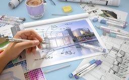 Huisontwerp het herwerken Stock Foto's