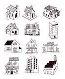 Huispictogram, vectorillustratie Royalty-vrije Stock Afbeeldingen
