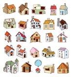 Huispictogram, vectorillustratie Stock Foto