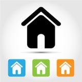 Huispictogrammen geplaatst voor om het even welk gebruik groot Vector eps10 Stock Foto