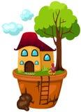 Huispot met mier Stock Foto's