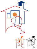 Huisreinigingsmachine royalty-vrije illustratie