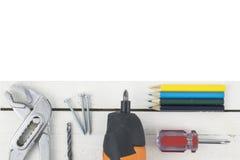 Huisreparatie, bouw en vernieuwing Stock Foto
