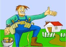 Huisreparaties vector illustratie