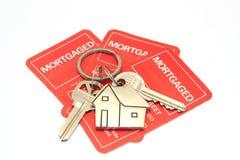 Huissleutels en hypotheek Stock Foto's