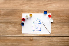 Huistekening Stock Foto