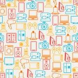 Huistoestellen en elektronika naadloze patronen royalty-vrije illustratie