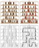 Huisvest labyrint Stock Afbeeldingen