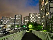 Huisvesten complex in Japan stock afbeelding