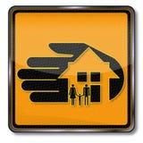 Huisvesting en huisverzekering royalty-vrije illustratie