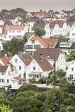 Huisvesting in het centrum van Stavanger Noorwegen stock afbeelding