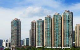 Huisvesting in Hong Kong stock afbeelding