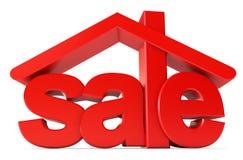 Huisvesting voor verkoop vector illustratie