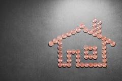 Huisvestingskosten stock afbeelding