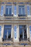 Huisvoorzijde in Porto, Portugal Royalty-vrije Stock Afbeeldingen