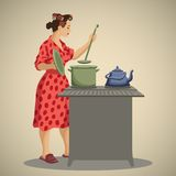 Huisvrouw stock illustratie