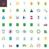 Huisvuil de inzameling van recyclingselementen royalty-vrije illustratie