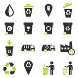 Huisvuil eenvoudig pictogrammen Royalty-vrije Stock Afbeeldingen