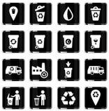 Huisvuil eenvoudig pictogrammen Stock Foto's