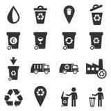 Huisvuil eenvoudig pictogrammen Stock Foto