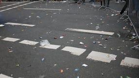 Huisvuil op de straat Stock Foto
