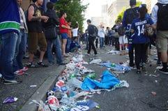 Huisvuil op de straten van Vancouver Stock Afbeelding
