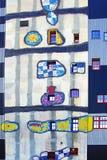 Huisvuil-verwerkend installatie die door Hundertwasser wordt gebouwd stock foto's