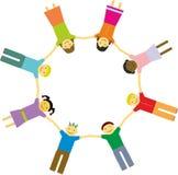 Huit amis Image libre de droits