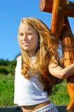 Huit années de fille Image libre de droits