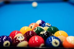 Huit billards de billes Photos stock
