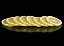 Huit citrons Photographie stock