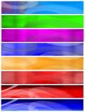 Huit drapeaux ou en-têtes réglés Image stock