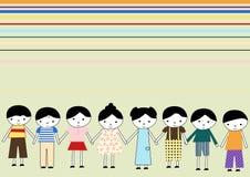 Huit gosses illustration libre de droits