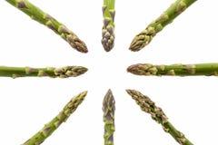 Huit lances d'asperge se dirigeant au milieu Images libres de droits