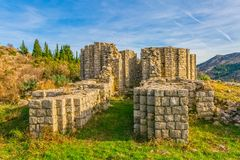 Huit ont dégrossi église du 10ème siècle Images stock