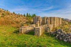 Huit ont dégrossi église du 10ème siècle Images libres de droits