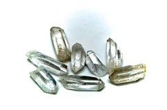 Huit points clairs de cristal de quartz Image stock