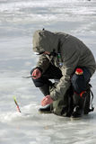 Huitième championnat de pêche de glace du monde dans la région de Kharkiv, Ukraine les 5-6 février 2011 Photographie stock