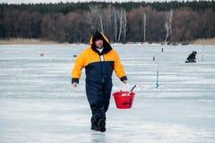 Huitième championnat de pêche de glace du monde dans la région de Kharkiv, Ukraine les 5-6 février 2011 Photo libre de droits