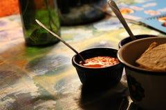 Huitlacoche, tortillas et figuiers de Barbarie photo libre de droits