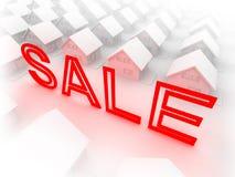 Huizen aan verkoop Stock Afbeelding