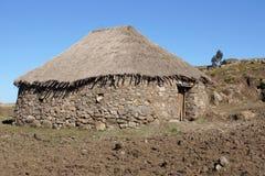 Huizen, Amhara, Ethiopië, Afrika Stock Foto's