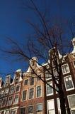 Huizen in Amsterdam Stock Afbeeldingen