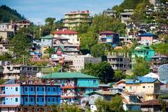 Huizen in Baguio Royalty-vrije Stock Afbeeldingen