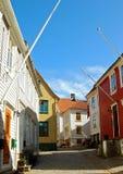 Huizen in Bergen Royalty-vrije Stock Afbeelding