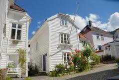 Huizen in Bergen Stock Afbeelding