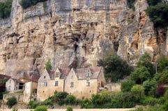 Huizen in Beynac royalty-vrije stock fotografie