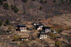 Huizen - Bhutan Royalty-vrije Stock Fotografie