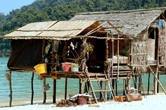 Huizen bij Surin-eilanden, Thailand Royalty-vrije Stock Fotografie