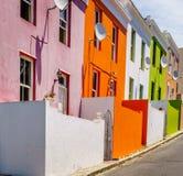 Huizen in BO-Kaap in Cape Town royalty-vrije stock foto's
